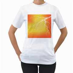 Exotic Backgrounds Women s T Shirt (white) (two Sided) by Simbadda