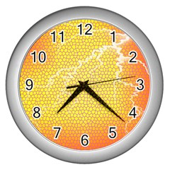 Exotic Backgrounds Wall Clocks (silver)  by Simbadda