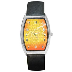 Exotic Backgrounds Barrel Style Metal Watch by Simbadda