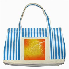 Exotic Backgrounds Striped Blue Tote Bag by Simbadda