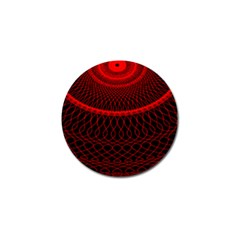 Red Spiral Featured Golf Ball Marker (4 Pack) by Alisyart