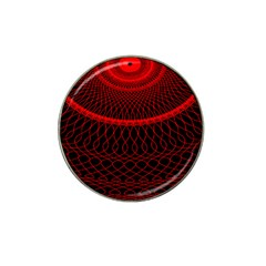 Red Spiral Featured Hat Clip Ball Marker (10 Pack) by Alisyart