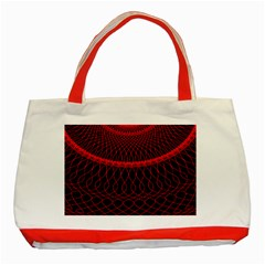 Red Spiral Featured Classic Tote Bag (red) by Alisyart