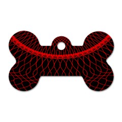 Red Spiral Featured Dog Tag Bone (one Side) by Alisyart