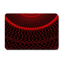 Red Spiral Featured Small Doormat