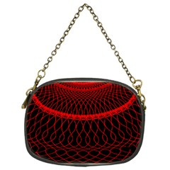 Red Spiral Featured Chain Purses (one Side)  by Alisyart