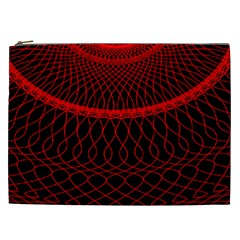 Red Spiral Featured Cosmetic Bag (xxl)  by Alisyart