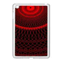Red Spiral Featured Apple Ipad Mini Case (white) by Alisyart