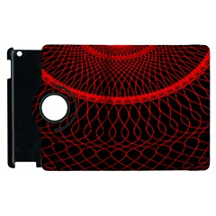 Red Spiral Featured Apple Ipad 3/4 Flip 360 Case by Alisyart