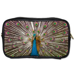 Indian Peacock Plumage Toiletries Bags by Simbadda