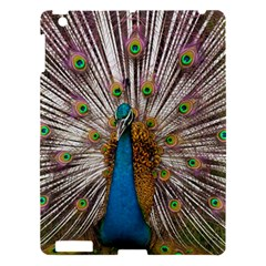 Indian Peacock Plumage Apple Ipad 3/4 Hardshell Case by Simbadda