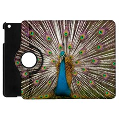 Indian Peacock Plumage Apple Ipad Mini Flip 360 Case by Simbadda