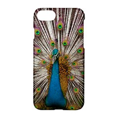 Indian Peacock Plumage Apple Iphone 7 Hardshell Case by Simbadda