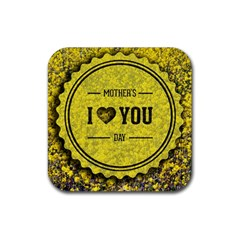 Happy Mother Day Rubber Coaster (square)  by Simbadda
