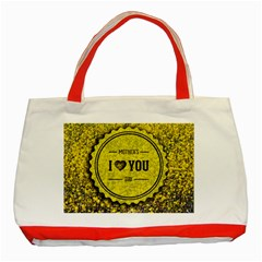 Happy Mother Day Classic Tote Bag (red) by Simbadda