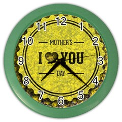 Happy Mother Day Color Wall Clocks