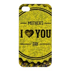 Happy Mother Day Apple Iphone 4/4s Premium Hardshell Case by Simbadda