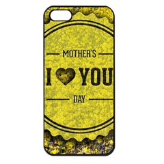 Happy Mother Day Apple Iphone 5 Seamless Case (black) by Simbadda