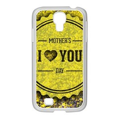 Happy Mother Day Samsung Galaxy S4 I9500/ I9505 Case (white) by Simbadda