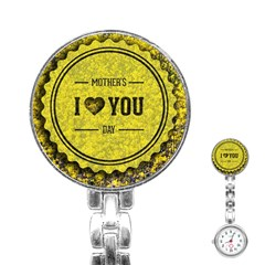 Happy Mother Day Stainless Steel Nurses Watch by Simbadda
