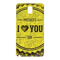 Happy Mother Day Samsung Galaxy Note 3 N9005 Hardshell Back Case by Simbadda