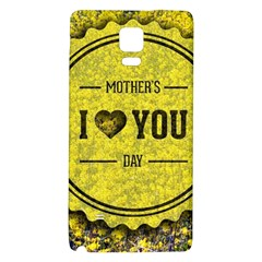 Happy Mother Day Galaxy Note 4 Back Case by Simbadda