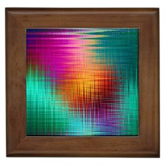 Colourful Weave Background Framed Tiles by Simbadda