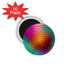 Colourful Weave Background 1 75  Magnets (10 Pack)  by Simbadda