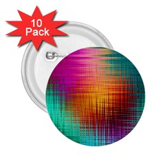 Colourful Weave Background 2 25  Buttons (10 Pack)  by Simbadda