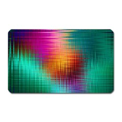 Colourful Weave Background Magnet (rectangular) by Simbadda
