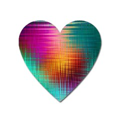 Colourful Weave Background Heart Magnet by Simbadda