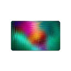 Colourful Weave Background Magnet (name Card) by Simbadda