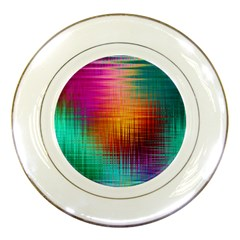 Colourful Weave Background Porcelain Plates by Simbadda