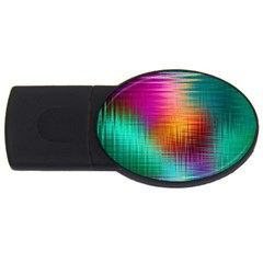 Colourful Weave Background Usb Flash Drive Oval (4 Gb) by Simbadda
