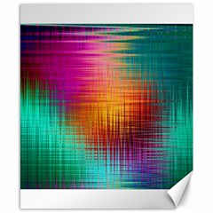 Colourful Weave Background Canvas 8  X 10  by Simbadda