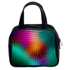Colourful Weave Background Classic Handbags (2 Sides) by Simbadda