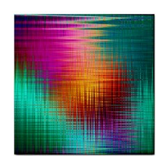 Colourful Weave Background Face Towel by Simbadda