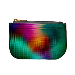 Colourful Weave Background Mini Coin Purses by Simbadda