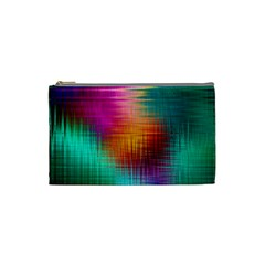 Colourful Weave Background Cosmetic Bag (small)  by Simbadda