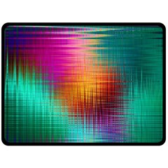 Colourful Weave Background Fleece Blanket (large)  by Simbadda