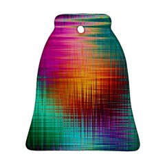 Colourful Weave Background Ornament (bell) by Simbadda