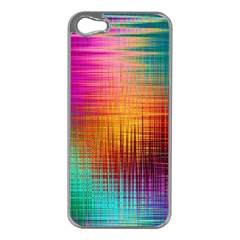 Colourful Weave Background Apple Iphone 5 Case (silver) by Simbadda