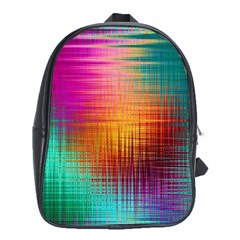 Colourful Weave Background School Bags (xl)  by Simbadda