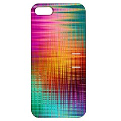 Colourful Weave Background Apple Iphone 5 Hardshell Case With Stand by Simbadda
