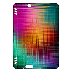 Colourful Weave Background Kindle Fire Hdx Hardshell Case by Simbadda