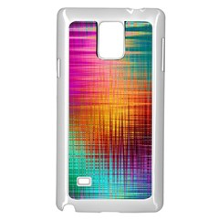 Colourful Weave Background Samsung Galaxy Note 4 Case (white) by Simbadda