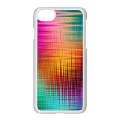 Colourful Weave Background Apple Iphone 7 Seamless Case (white) by Simbadda