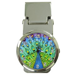Peacock Bird Animation Money Clip Watches by Simbadda