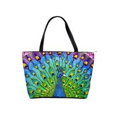 Peacock Bird Animation Shoulder Handbags by Simbadda
