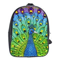 Peacock Bird Animation School Bags(large)  by Simbadda